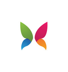 beauty butterfly logo template icon design vector image