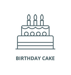 birthday cake line icon linear concept vector image