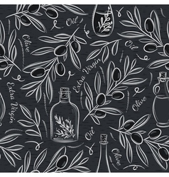 Black blackboard with olive vector image