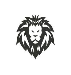 black lion icon design vector image