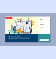 business investment web page template online vector image