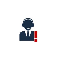 Call center logo icon design vector