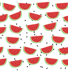Cartoon style watermelon seamless pattern vector image