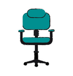 Chair office draw vector