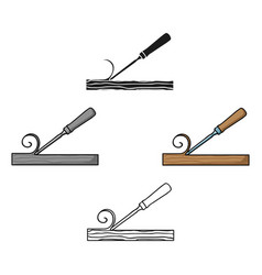 Chisel icon in cartoonblack style isolated on vector