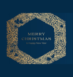 Christmas greetings banner or cover blue vector