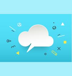 cloud banner speech bubble vector image