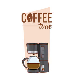 Coffee time concept cartoon vector