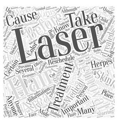 Contraindications of Laser Hair Removal Word Cloud vector image