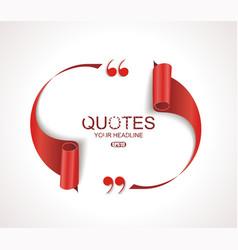 Creative quotation mark speech bubble quote sign vector