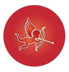 Cupid angel isolated icon vector