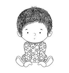 Cute baboy with pajamas design vector