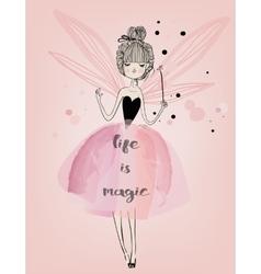 Cute fairy girl vector