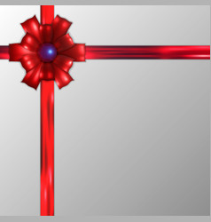 decorative red bows with horizontal red ribbon vector image
