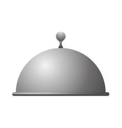 Dish dome restaurant vector