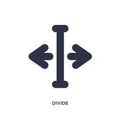 Divide icon on white background simple element vector