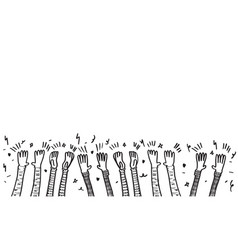 Doodle sketch style applause on white vector