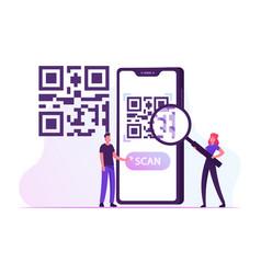 E-wallet cashless payment technology woman vector