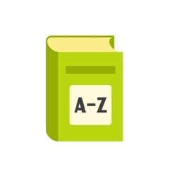English dictionary flat icon vector