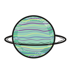 Exploration uranus planet in the galaxy space vector