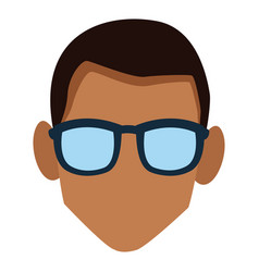 Faceless man with glasses vector