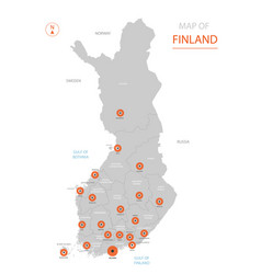 finland map with administrative divisions vector image