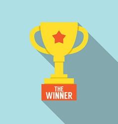 Flat Design Trophy vector image