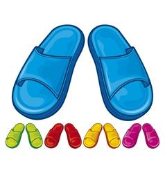 flip flops set - slippers vector image vector image