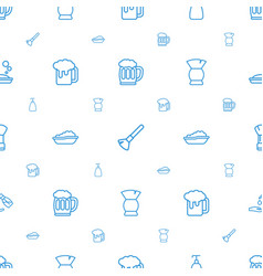 Foam icons pattern seamless white background vector