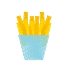 French fries potato isolated icon vector