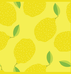 Funny lemons hand drawn yellow background vector