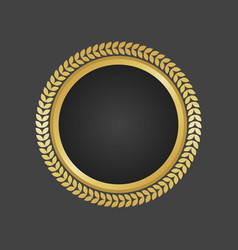 golden and black luxury metallic badge template vector image