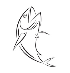 graphic fishing tuna vector image