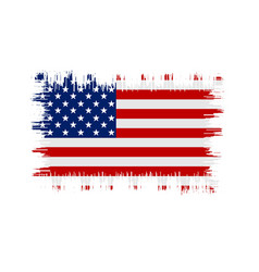 Grunge american flag flag of usa vector