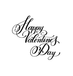 Happy valentines day handwritten lettering holiday vector