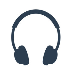 Headphone icon on white background vector