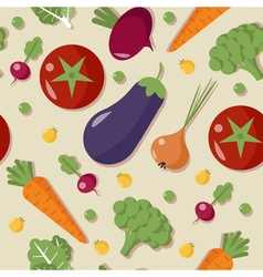 Healthy Food Vegetables Seamless Pattern vector image