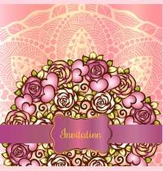 invitation card template vector image