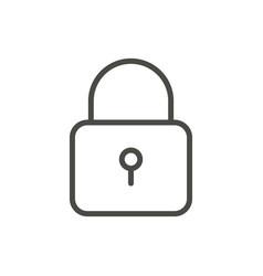 lock icon line security symbol vector image