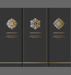 luxury emblem vector image vector image