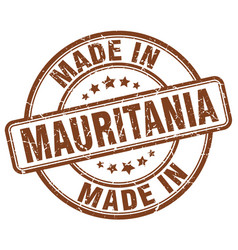 made in mauritania vector image