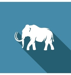 Mammoth silhouette icon vector image