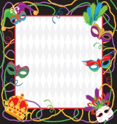 mardi gras party invitation vector image
