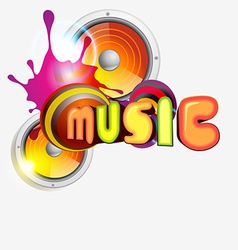 music colorful vector image