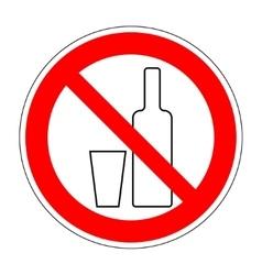 No drinking sign 903 vector image