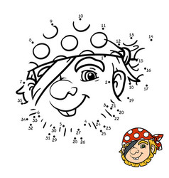 numbers game for children pirate vector image