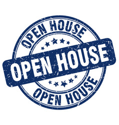 Open house stamp vector