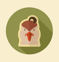 Quail flat icon animal head symbol vector