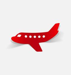 Realistic design element plane vector