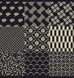 seamless japanese traditional mesh pattern vector image